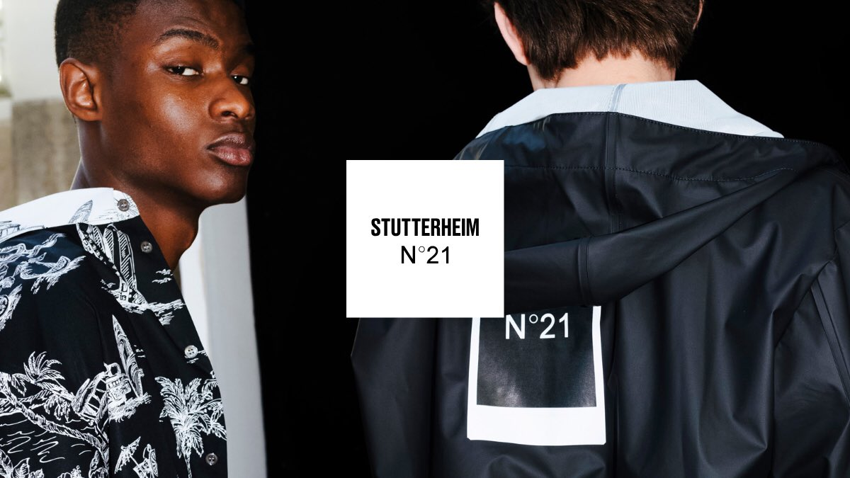 Introducing: Stutterheim x @NUMEROVENTUNO    An aesthetic union where Stutterheim's utilitarian style and minimalism meets the urban bourgeois wardrobe of Nº21.  Available now – explore at http://bit.ly/2WbXCs7   #StutterheimxN21 #Stutterheim #N21 #numeroventuno #N21SS19