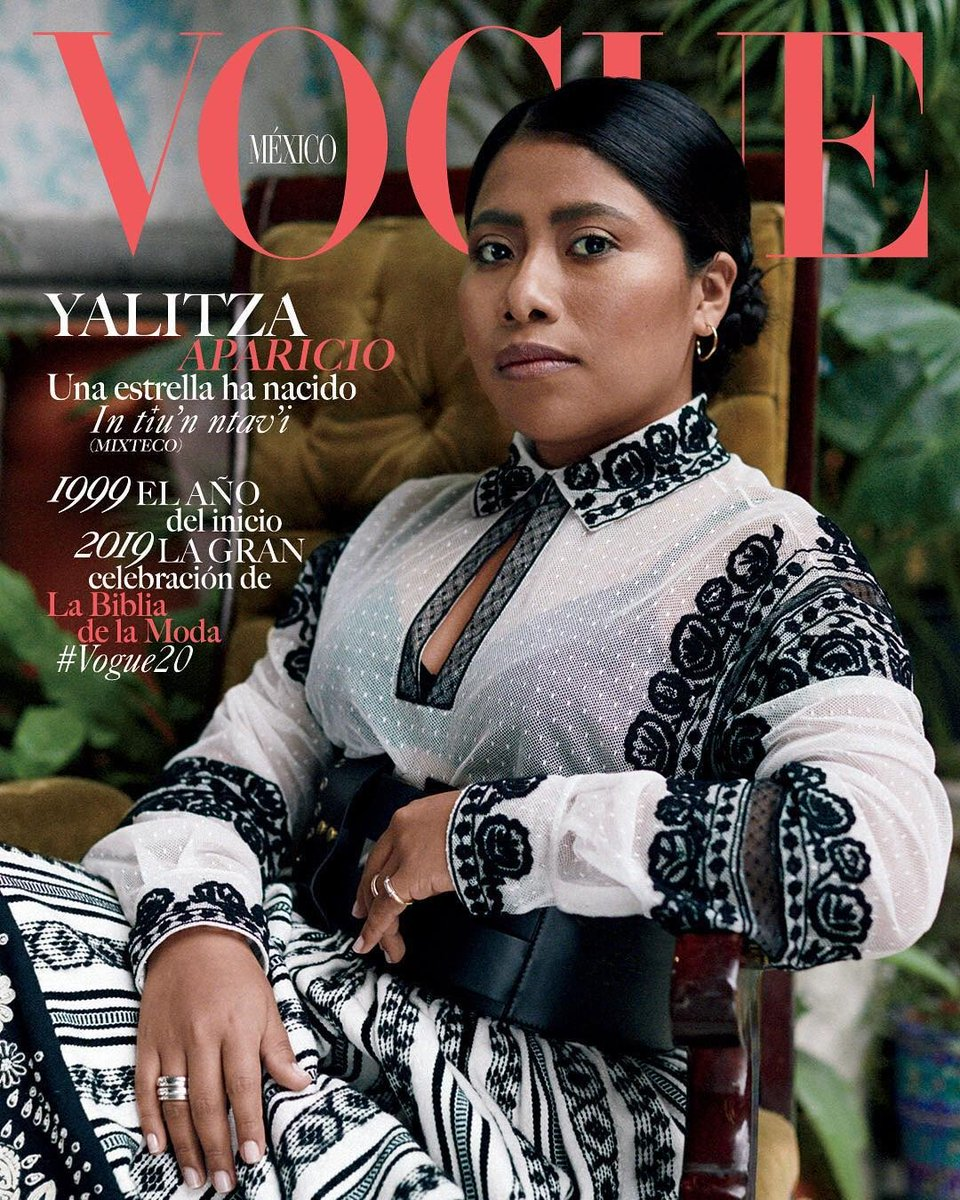 ROMA é o primeiro trabalho como atriz da Yalitza Aparicio. Só isso. Yalitza Aparicio, em sua primeira atuação, está indicada a Melhor Atriz. Olha ela divando demais na capa da Vogue mexicana.