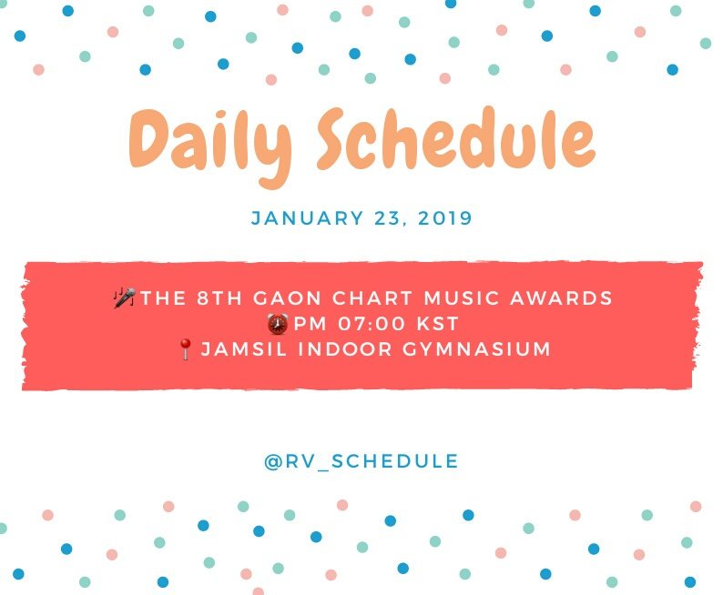 Red Velvet Schedule On Twitter Daily Schedule At Rvsmtown January