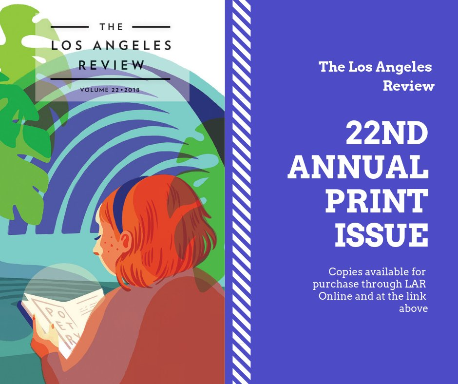 It's here! Go to LAR Online to follow this link to purchase copies today: https://aerbook.com/maker/productcard-3894600-1458.html… #LAReview Red Hen Press #litmag #litjournal