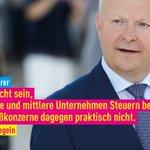 Image for the Tweet beginning: #PolitikDieRechnenKann: Faire Besteuerung aller Unternehmen!