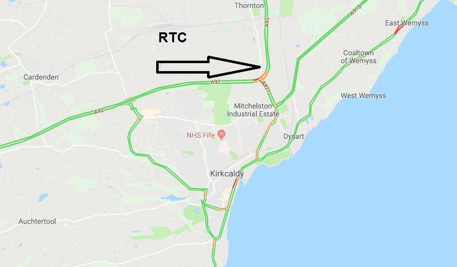test Twitter Media - *NEW* ❗️⌚️15:34  #A92 N/B just after Redhouse R/bout, Kirkcaldy - a multivehile RTC is partially blocking the carriageway. TRISS in scene, Police en route  @NETrunkRoads https://t.co/vbgnENjtGJ