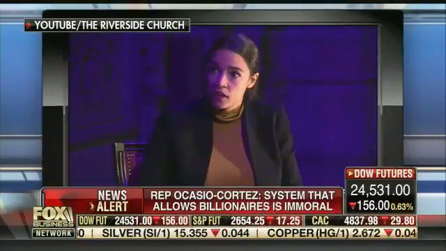 """After Rep. Alexandria Ocasio-Cortez highlights extreme inequality, Jason Chaffetz complains: """"Look, that is class warfare, it's taking a stereotype and exploiting people"""" http://mm4a.org/4Pt"""