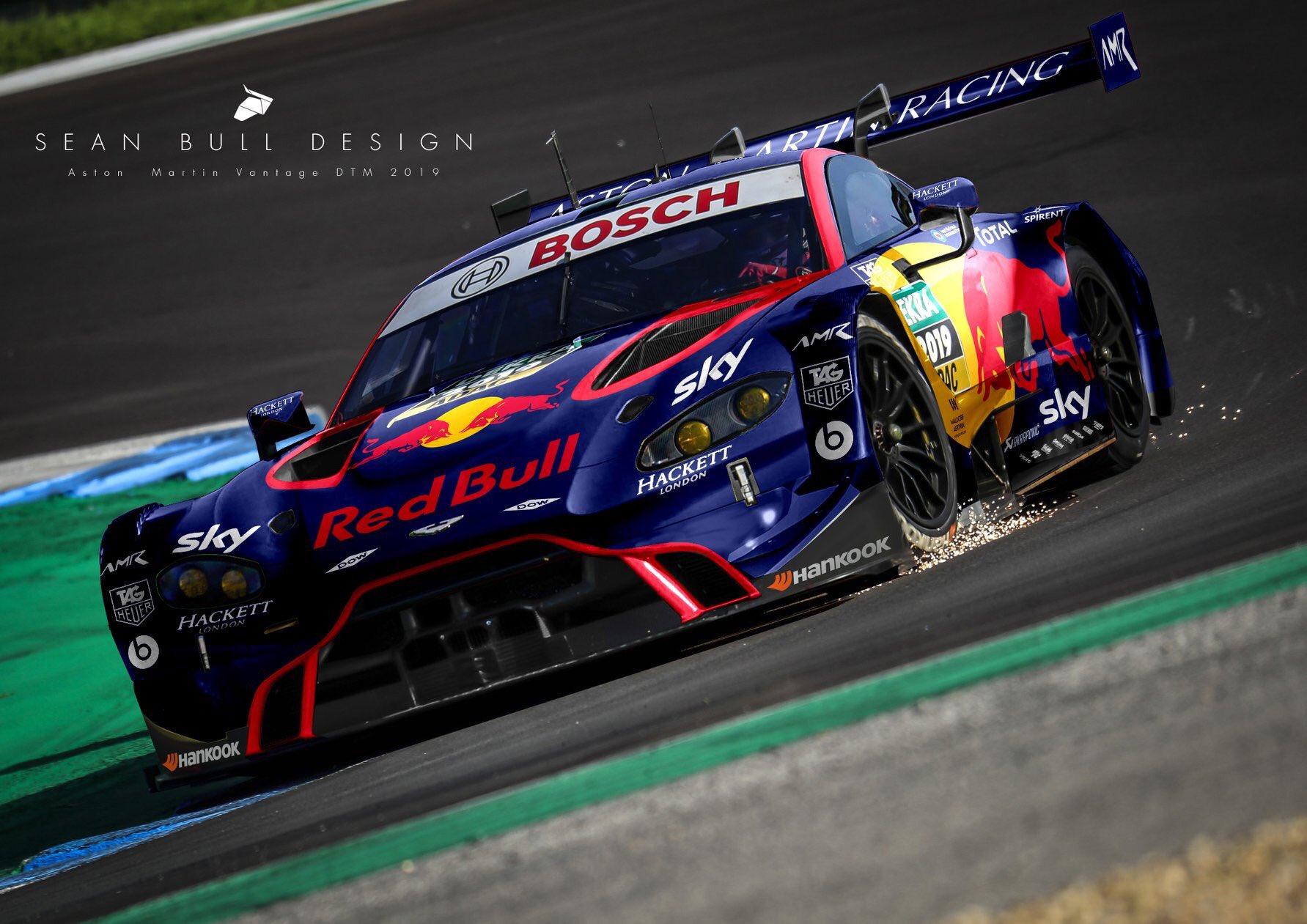 Sean Bull Design On Twitter Red Bull Aston Martin Dtm 2019 Mock Up And Livery Astonmartin Dtm Dtm2019 Livery Redbull