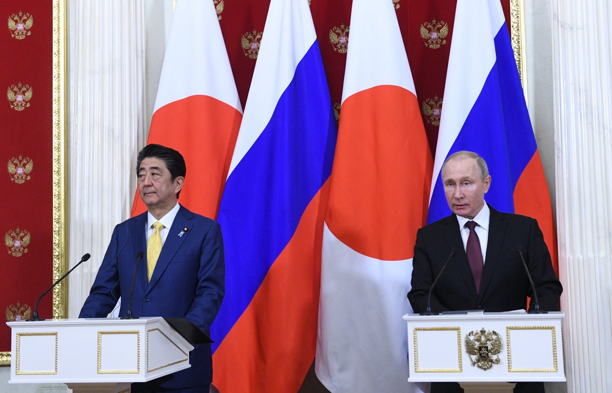 По окончании переговоров Владимир Путин и Синдзо Абэ сделали заявления для прессы https://t.co/SsAbCkxxXF