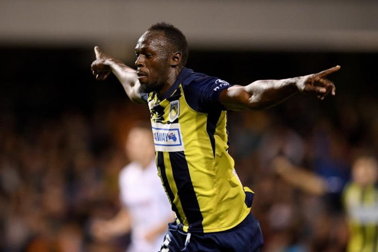 """Usain Bolt has retired from football 🇯🇲   🏟 Games: 2 ✅ Wins: 2 ⚽️ Goals: 2 🏆 Won the same amount of trophies as Harry Kane 🎯 Registered the same amount of assists as Jorginho this season 🗣 """"His first touch is like a trampoline"""" - Andy Keogh  A true legend of the game ⚡️"""