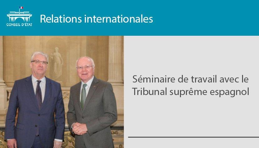 Une délégation conduite par le président de la troisième chambre du Tribunal suprême espagnol, en charge du contentieux administratif, a été reçue le 21 janvier au Conseil d'État >>https://t.co/xmy6ZHbzgr