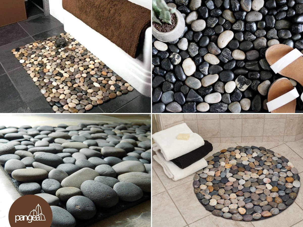 Pangea Real Estate On Twitter Diytip Give Your Bathroom An Upgrade With This Inexpensive Diy Pebble Bath Mat You Ll Need A Rubber Floor Mat River Stones And Epoxy Adhesive Https T Co S7bgy7klfg