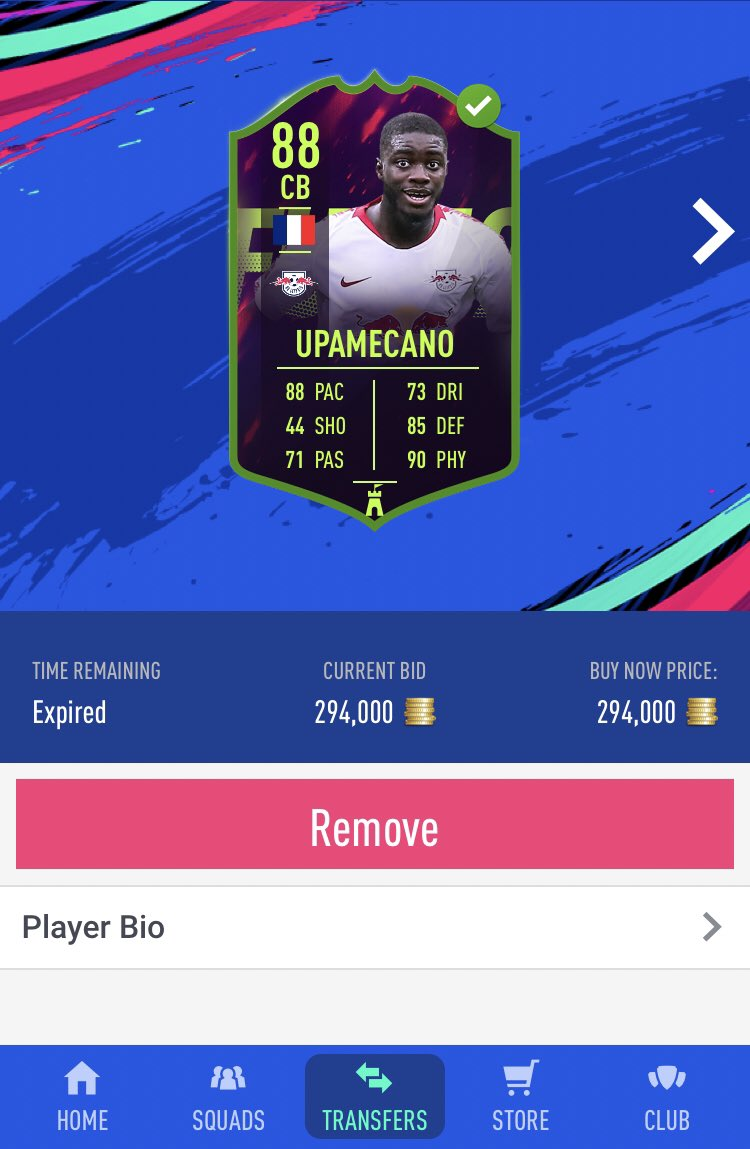 Bought him to test when he was super cheap on Monday morning, was average but I'll happily take the profit on this flip once again💰  + 45,300 coins🤑