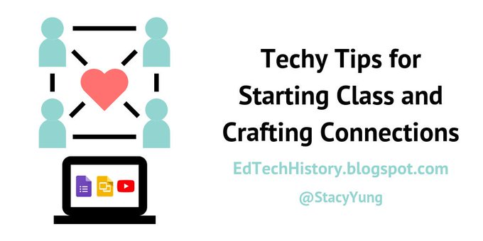 Techy Tips for Starting Class and Crafting Connections - Educational Technology in the History Classroom
