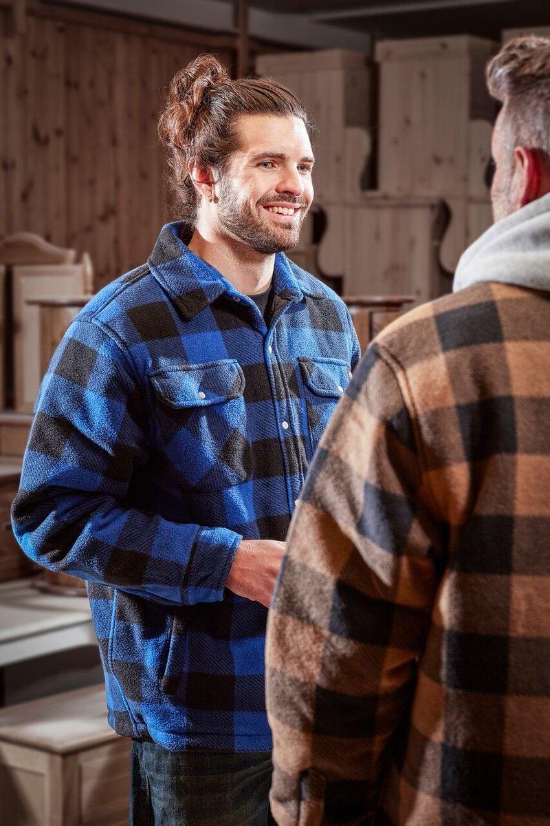 MENS DICKIES PORTLAND WORKWEAR PADDED WORK CASUAL SHIRT SH5000 ROYAL SIZE S-4XL