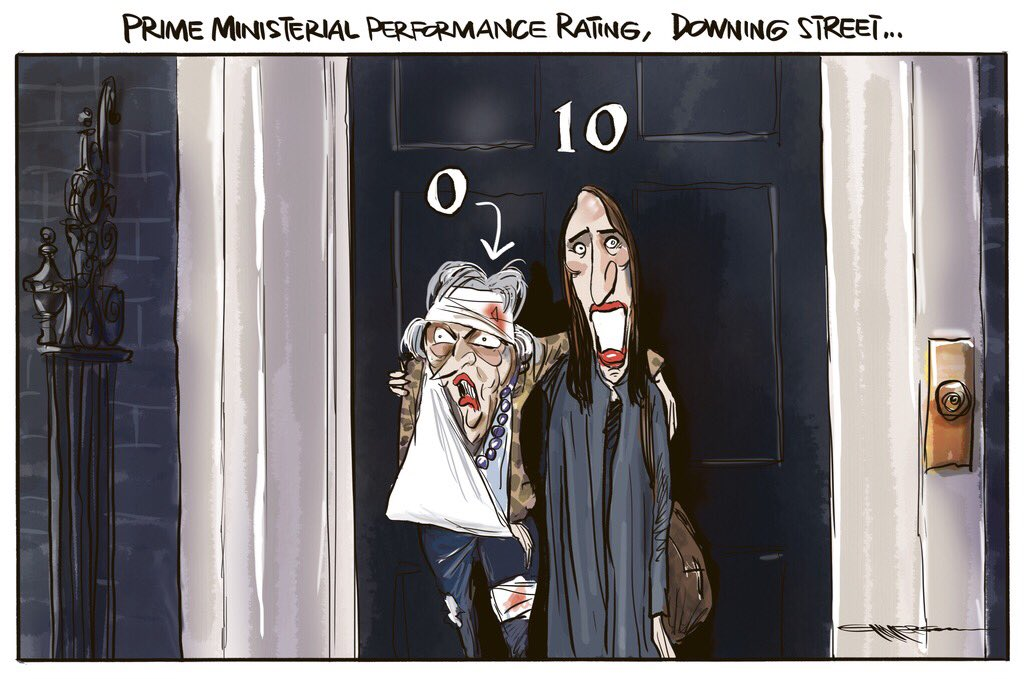 Prime Ministerial Performance Rating - Downing St... cartoon in today's @nzherald #Brexit #nzpol