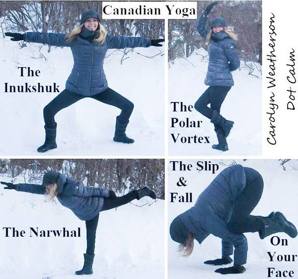 Some special Canadian yoga poses you may not have heard of. #TuesdayThoughts #MeanwhileinCanada #yoga
