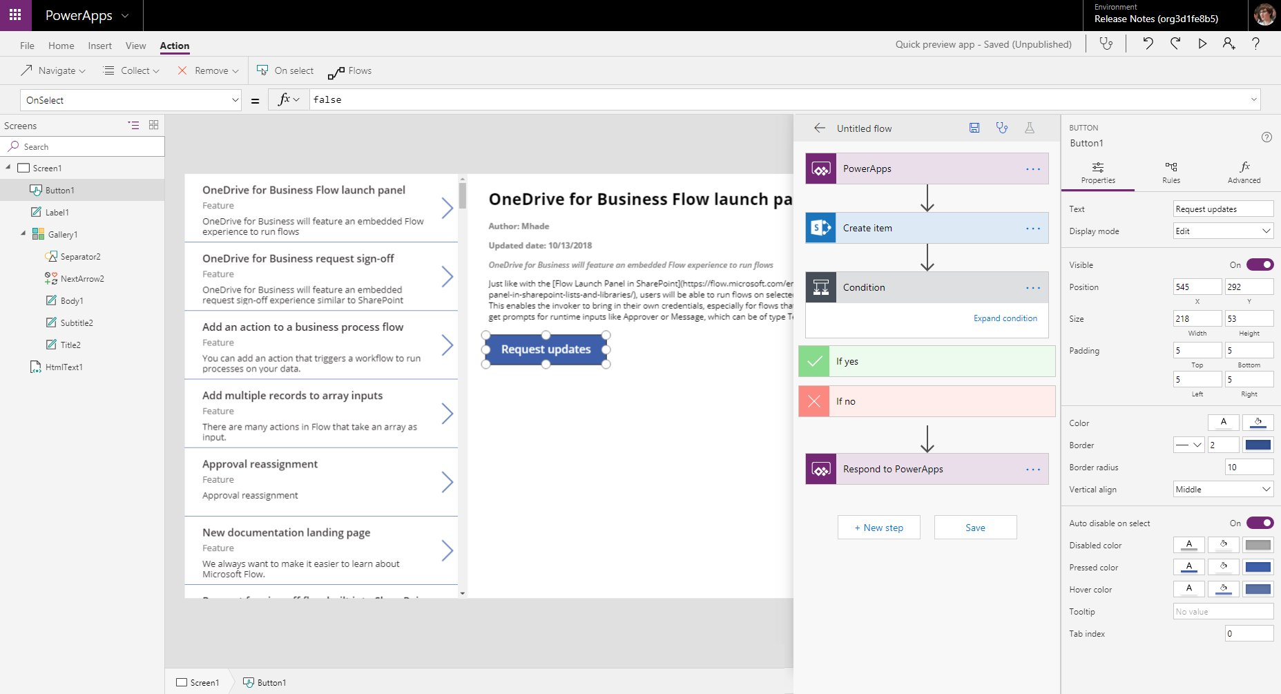 PowerApps in GCC High