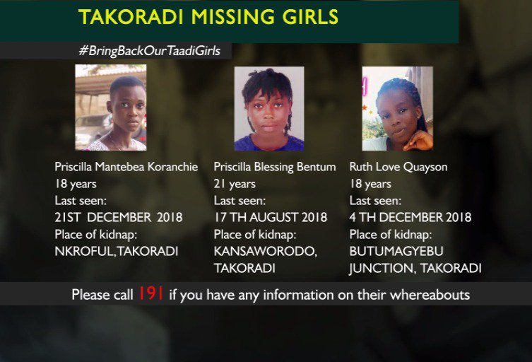 We at JoyNews are appealing to you, on behalf of the families of the girls kidnapped in Takoradi to keep retweeting these images until the girls are found.  Please call the Police Emergency Number 191 if you have any information on their whereabouts.  #BringBackOurTaadiGirls
