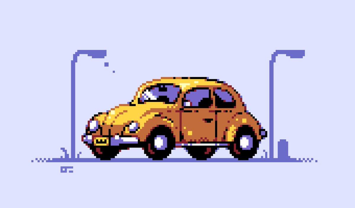 트위터의 Ollie Jamie 님 Old Fashioned Car The Volkswagen Beetle I M Not A Car Guy But I Chose This Because I Have The Lego Model Of It For Pixel Dailies Pixel Dailies Pixelart