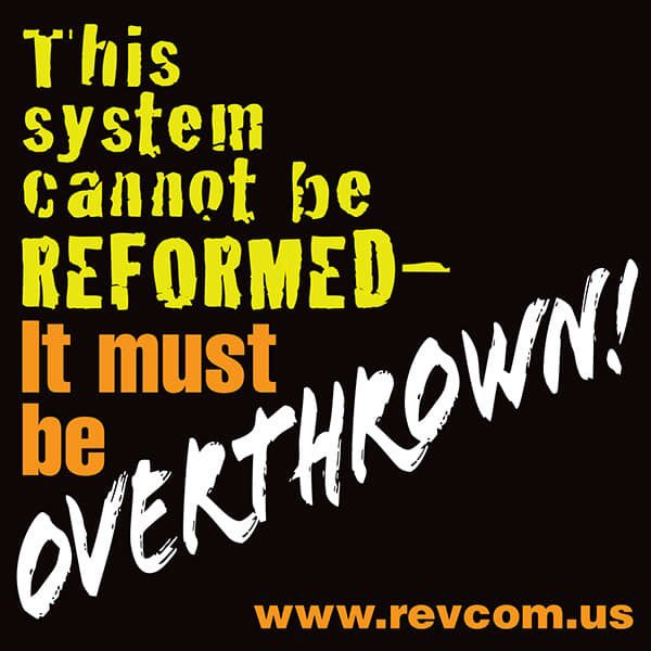Capitalism is killing the most vulnerable. We need a #RealRevolution and a whole other way for humanity and the planet! http://RevCom.us
