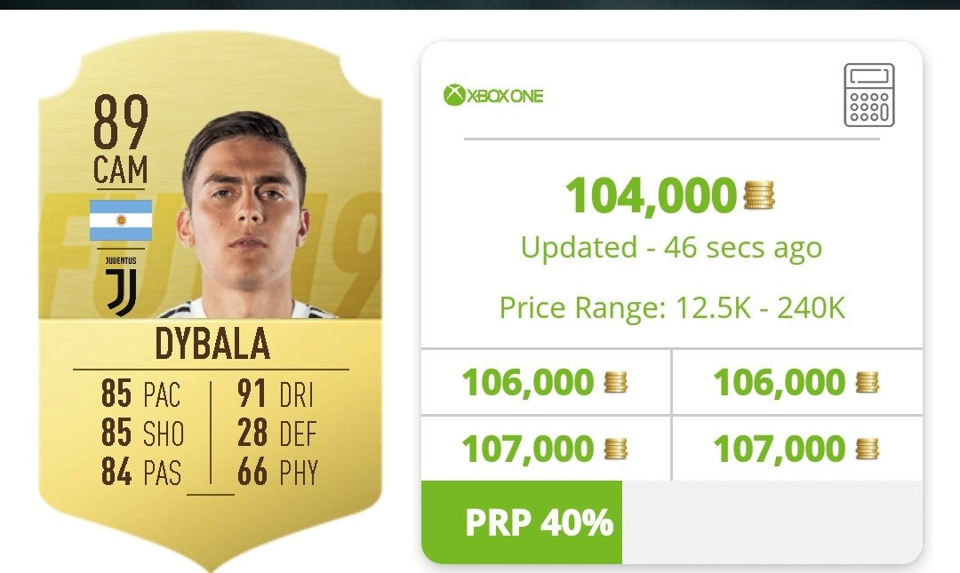 Another OP beast! Paulo Dybala is at a record low price if you want to use him or make a profit on him! #FIFA19 #FUT #FUTTradingTips @EASPORTSFIFA @FUTBINpic.twitter.com/PsNkN2rKeb