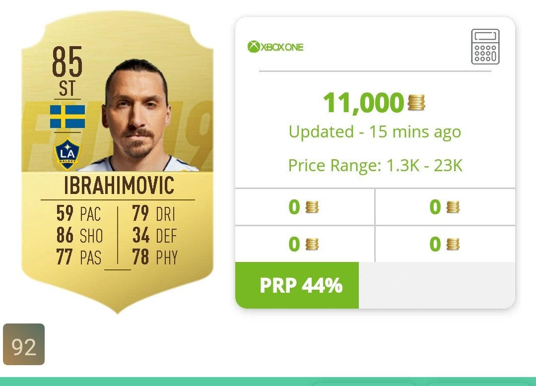 For anyone who took my advice 0n buying 6.9k Ibrahimovic cards, think about selling soon, he's currently going for 11k! #FIFA19 #FUT #FUTTradingTips @EASPORTSFIFA @FUTBIN #ibrahimovic #fifacoinspic.twitter.com/gR8NYLupXe