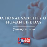 May we all take time to reflect upon the sanctity of human life today. I will continue to protect innocent life at all costs. #prolife