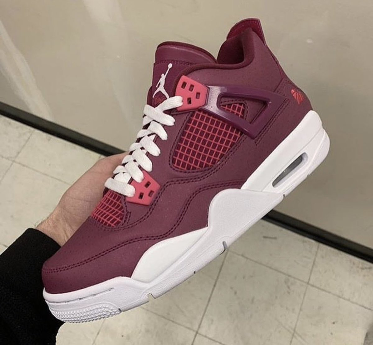 """932646dcdb34a6 Air Jordan 4 Retro GS """"Valentine s Day"""" True Berry Rush Pink-White Style  Code  487724-661 Release Date  February 9"""