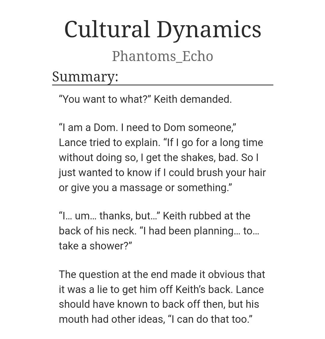 daily klance fanfiction (@dailyklanceff) | Twitter