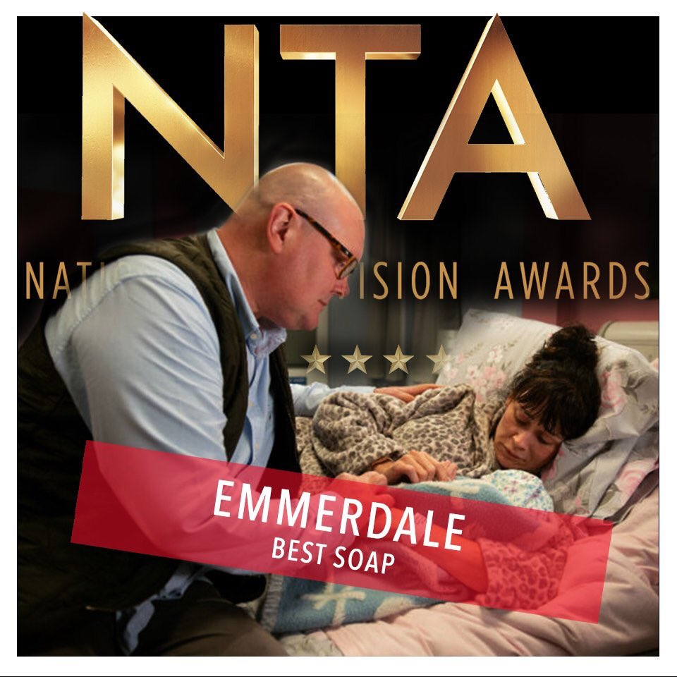 Third time's the charm. We just won BEST SERIAL DRAMA at the @officialntas! #NTA2019 #LoveOurFans #Emmerdale