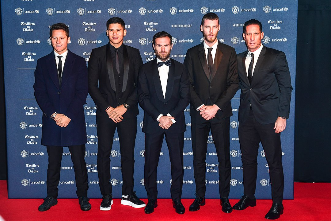 Manchester United turned up in style for the @UNICEF gala 👌