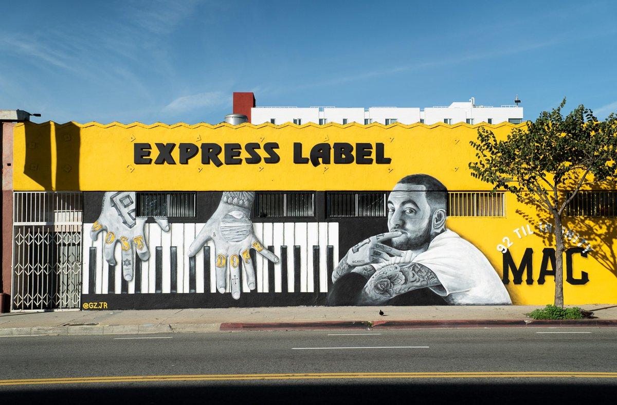 A Mac Miller mural popped up in LA over the weekend 🙏  🎨 Gustavo Zermeño Jr