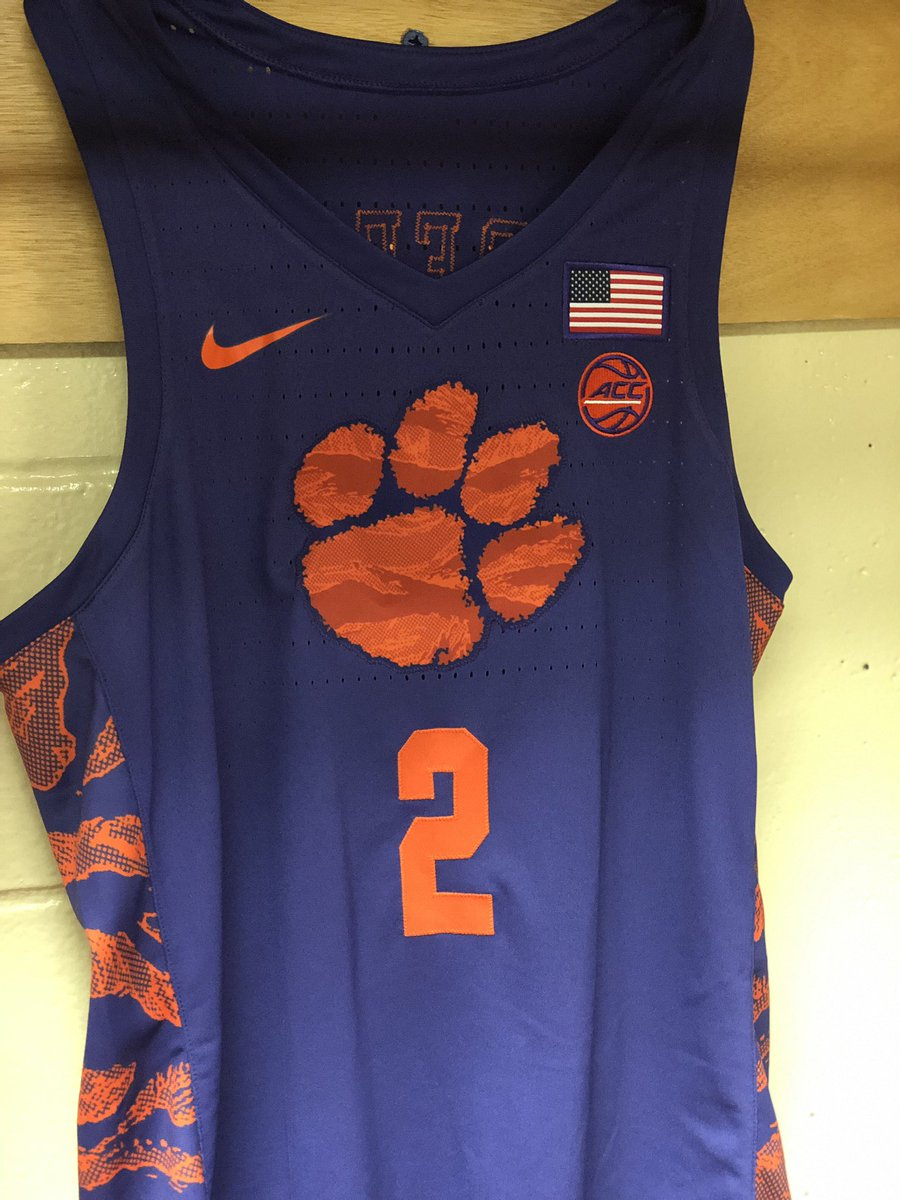 clemson basketball jersey