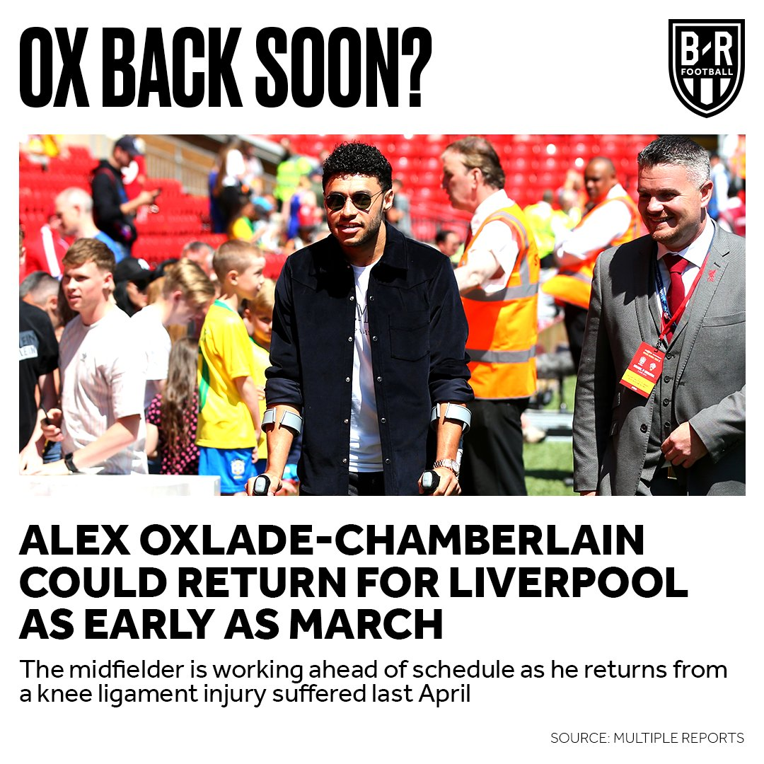 Alex Oxlade-Chamberlain could be back ahead of schedule after almost a year out 🙏