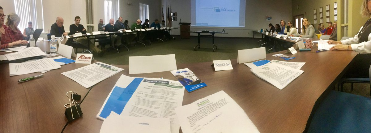 "The board at the mtg today received an update on ""The State of Our Workforce - WNC"" from @AVLChamber , Experienced Worker Initiative led by NCWorks Career Ctr AVL, ""Did You Know?"" outreach campaign by @TransylvaniaEDC and work-based learning expansion @BlueRidgeCC & @abtech_cc – at Land of Sky Regional Council"
