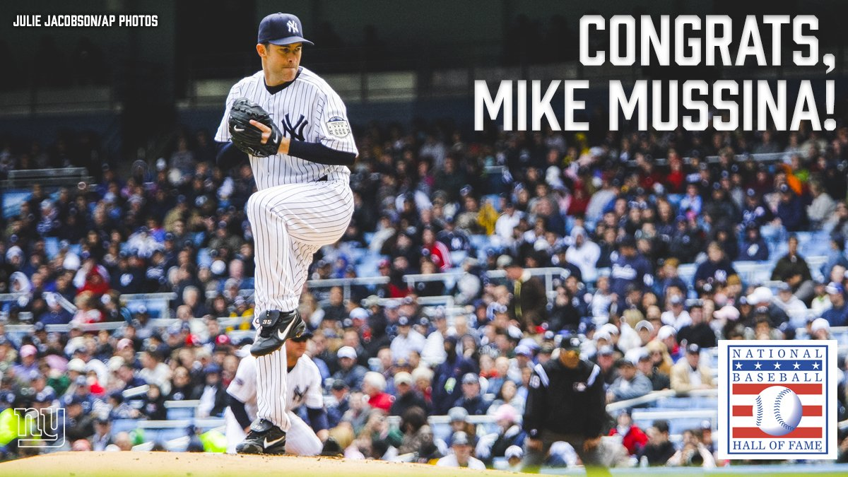 Congratulations, Mike Mussina on your election to the @baseballhall!