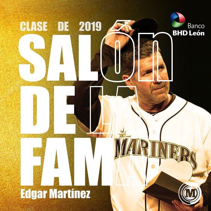 #MarcadorMLB Orgullo Latino Edgar Martínez electo al Salón de la Fama de Cooperstown.