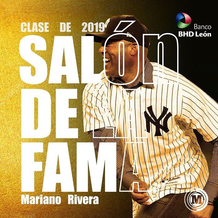 #MarcadorMLB GRANDE Mariano Rivera elegido de forma unánime al Salón de la Fama de Cooperstown Clase 2019.