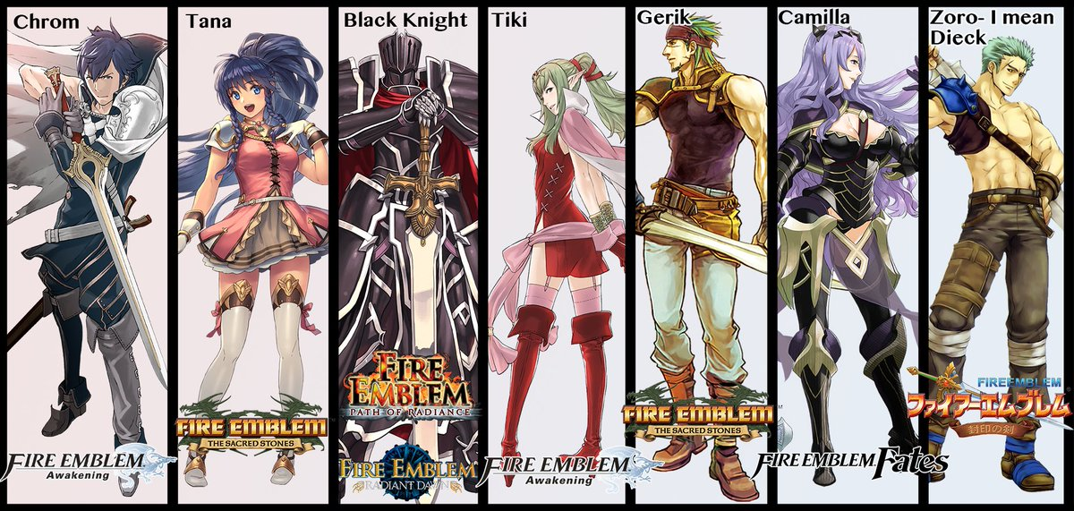 If anyone doesn't care about their votes for the #chooseyourlegends ballot, here's my 7 picks so you can support my world conquest. I have alternate options if picking Camilla goes against your religion, if you're interested. #FireEmblem