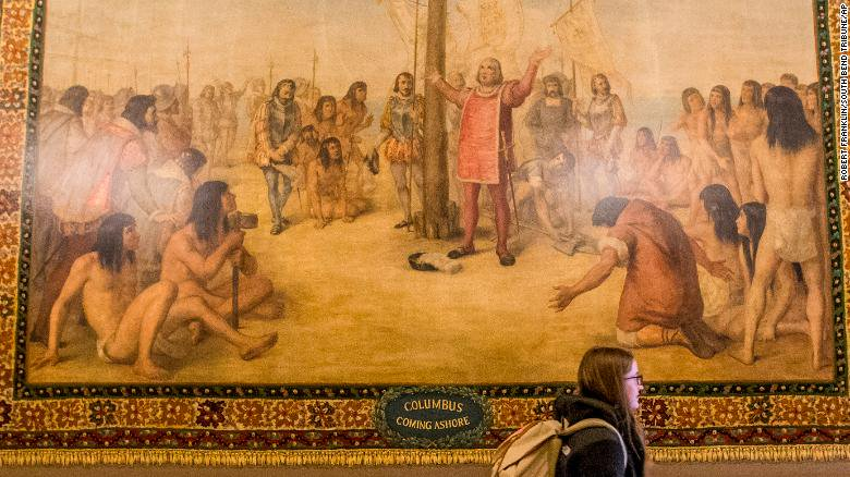 University of Notre Dame to cover Christopher Columbus murals https://t.co/Yf7pHwcJeh https://t.co/cR0DFy1ltM