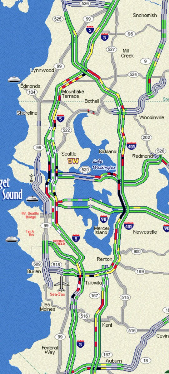 405 Traffic Map.Wsdot Traffic On Twitter Side By Side Of Our Travel Map From 4 50