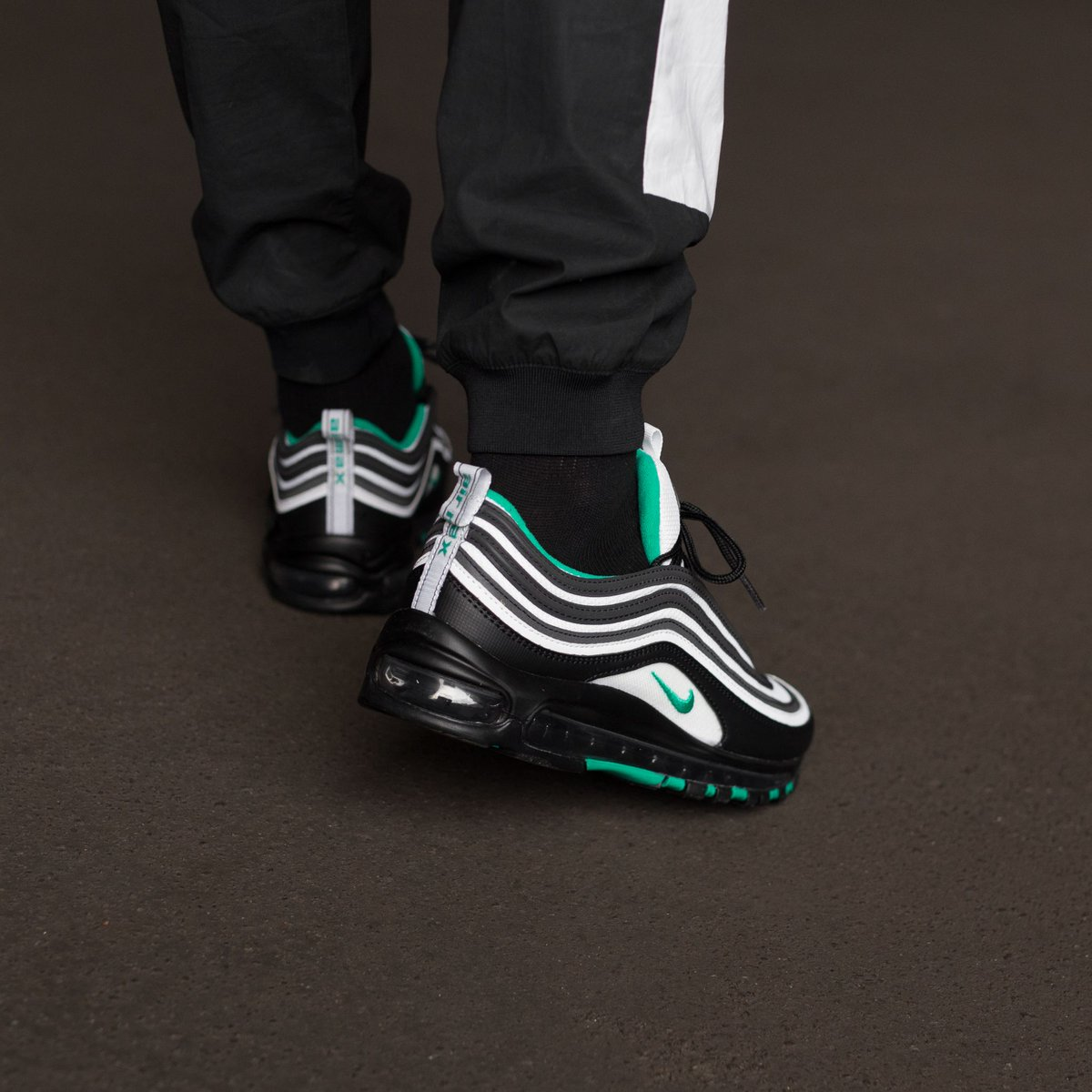 Nike Air Max 97 BlackClear Emerald White For Sale