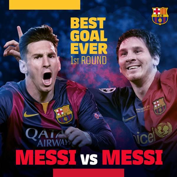 ⚽ #BarçaBestGoalEver 🔥 Hoy, Leo #Messi 🆚 Leo #Messi 🔝 ¡Vota aquí! 🎥👉 https://t.co/BWb2Rr5uKJ
