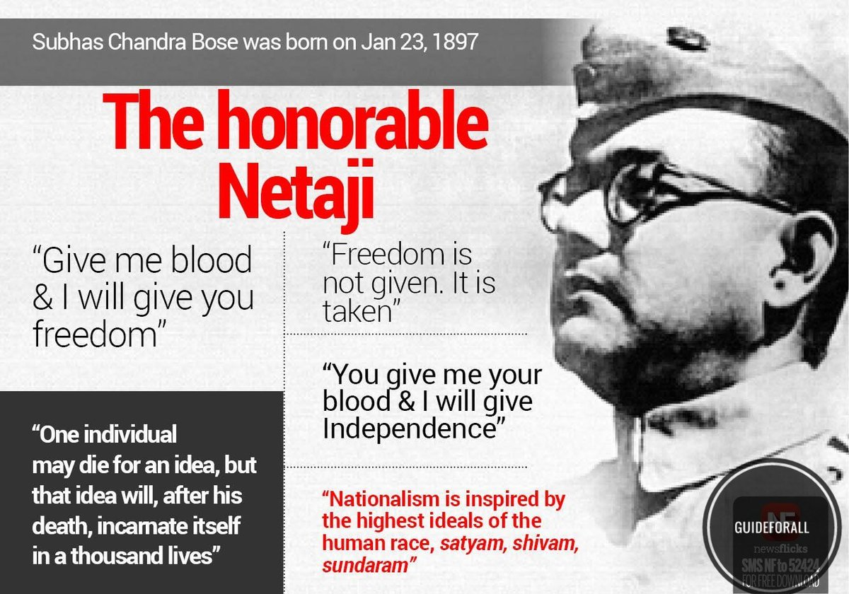 - 122nd birth anniversary of #NetajiSubhasChandraBose is being observed today across the country  - #SubhashChandraBose's birthday observed as #DeshPremDivas.  - In 1943 #Netaji, proclaimed the formation of the provisional government of independent India (#AzadHind) in Singapore.<br>http://pic.twitter.com/rhljApdwJ8