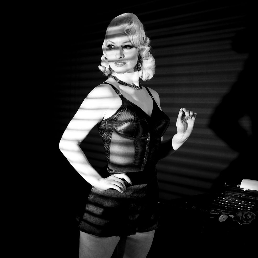 ef011e64d The gorgeous  JeanieWishes from our Valentine s Day shoot. This year s  theme is Film Noir - full of seductive femme fatales who always looked so  incredibly