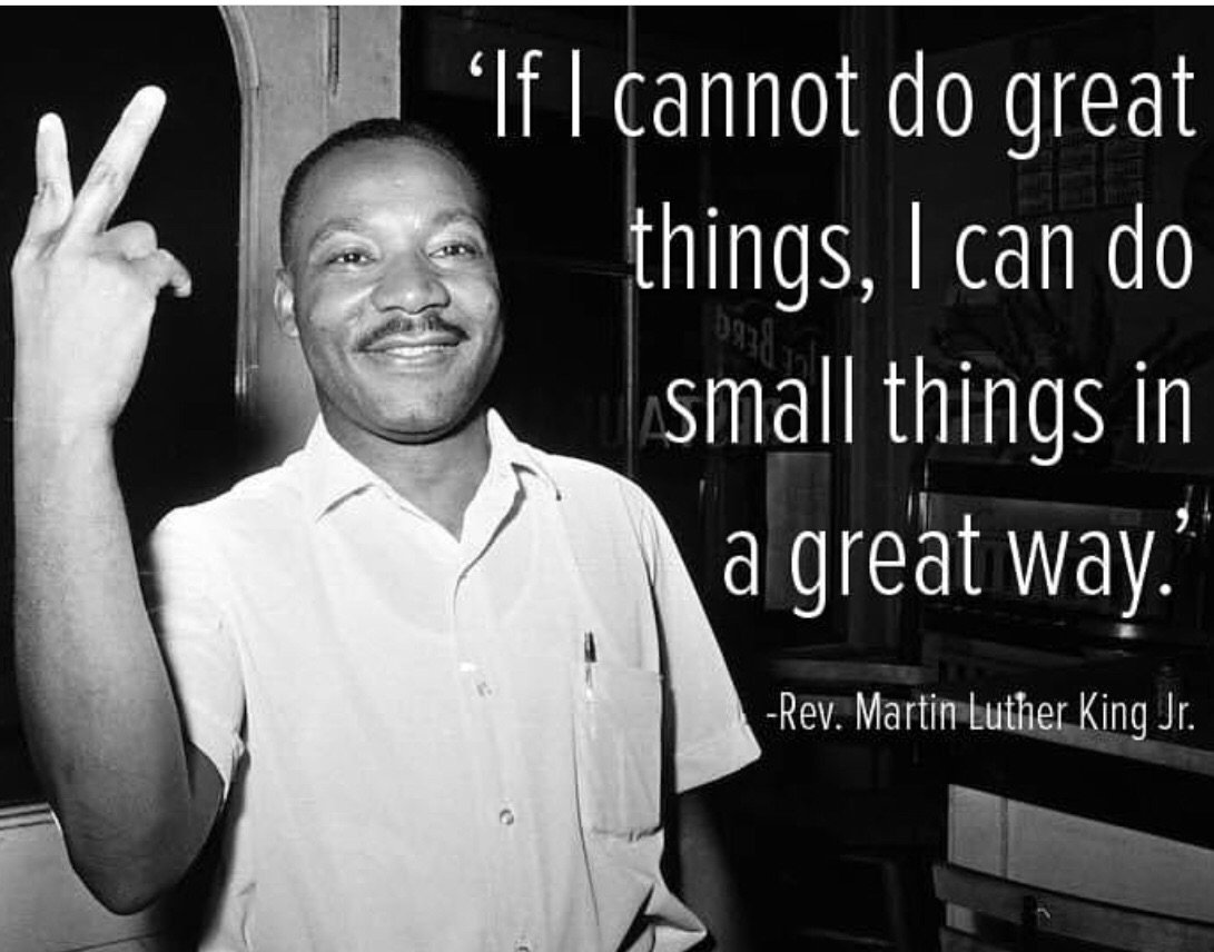 Do small things you can in a great way!! Thank you Dr King for all you've done great and small!😘👑🙏🏽 #mlk #Jan21