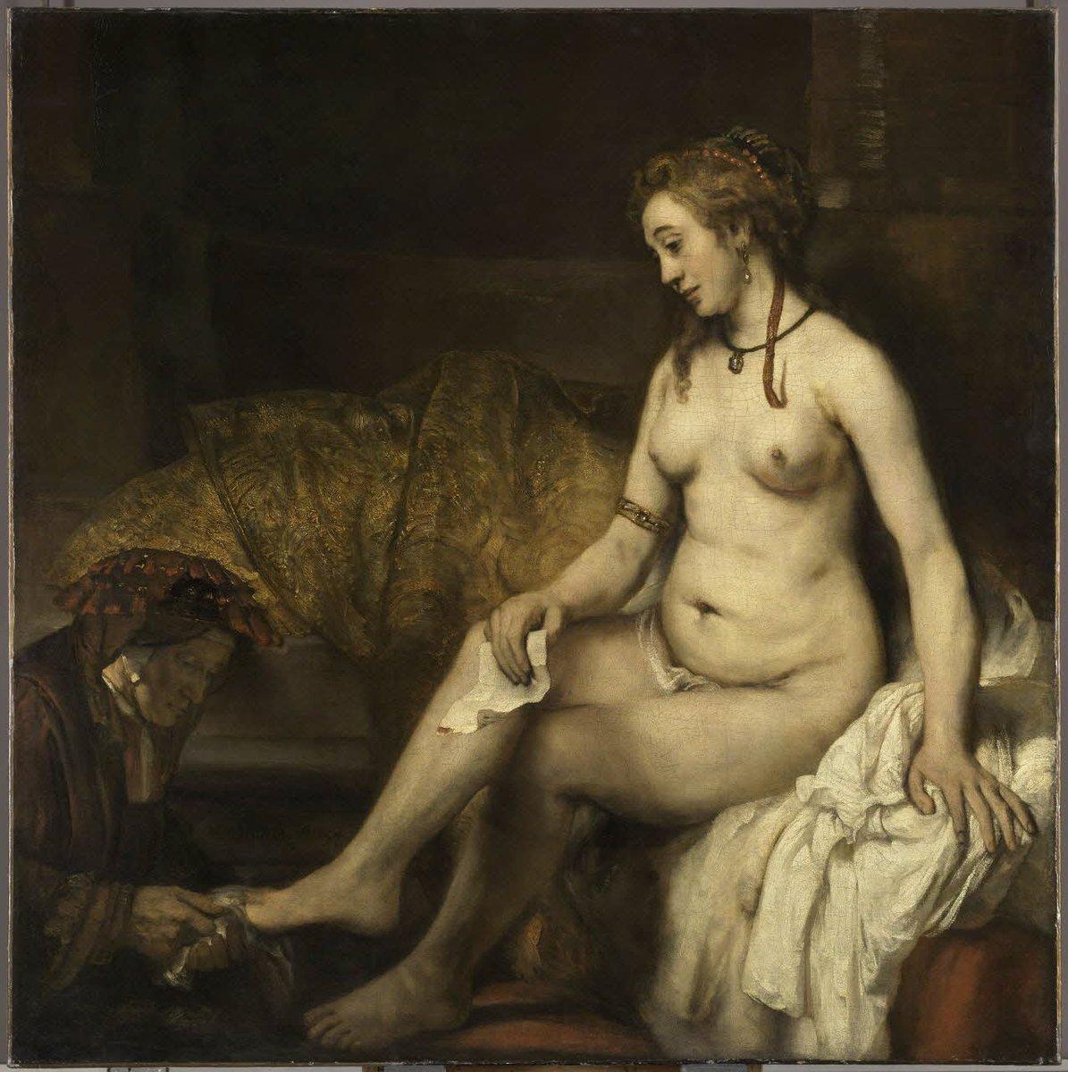 [#UnJourUneOeuvre] L'un des tableaux majeurs de Rembrandt, qui a concentré la représentation de l'épisode sur Bethsabée à sa toilette, infiniment troublée par le message du roi David.  👉https://t.co/w15kTi5VsJ #Peintures
