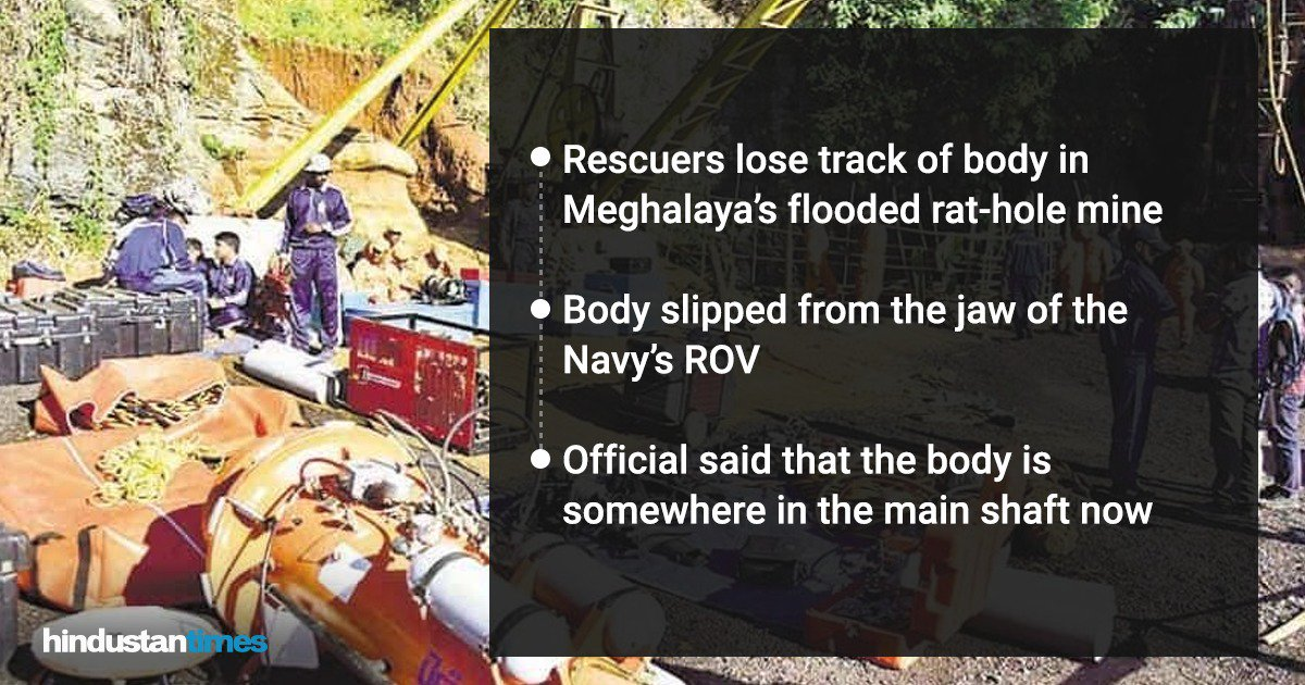 """There is lot of debris in the main shaft. And the water is extremely turbid which has made visibility difficult,"" the official said.  Read more: https://t.co/GYBW0yifDn  @datelinedelhi reports   #MeghalayaMineTragedy"
