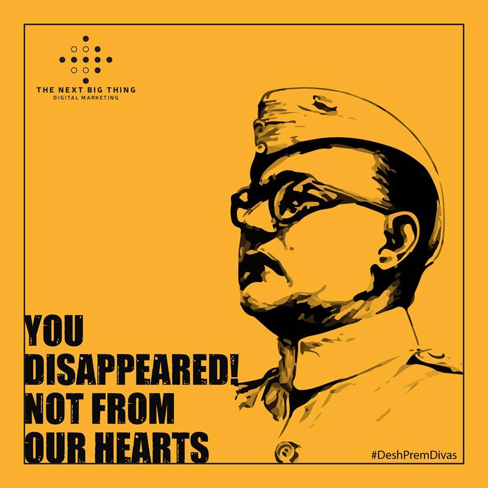 #Netaji will always live in our hearts, not just on the internet.  #DeshPremDivas #NetajiJayanti #SubhasChandraBose  #NetajiJayanti <br>http://pic.twitter.com/X2eywYJFgR