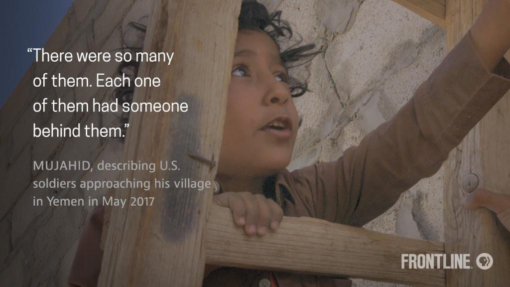 Mujahid, age 8, remembers seeing American soldiers approach his village during a ground raid that took place in May 2017. #frontlinePBS https://t.co/bpkFKkSkGO