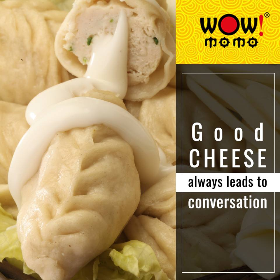 When you want to start the conversation on your first date; just order a plate of cheese momos. Rest will just follow.  #WowMomo #CheeseMomo #LoveForMomo #LoveForFood #FoodForFoodies #MomoManiapic.twitter.com/8gmD2uPZKz