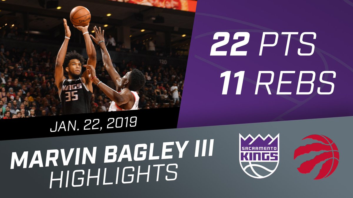 MBIII racked up a new career mark in scoring and a double-double in his first career start 💪  @MB3FIVE   🎥