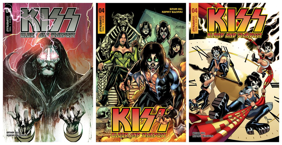 In Stores This Week! #KISS Blood & Stardust comic #4 from @DynamiteComics.  Rock on at your Local Comic Shop with KISS! #ncbd